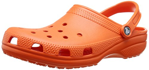 Crocs Men's and Women's Classic Clog, Comfort Slip On Casual Water Shoe, Lightweight, Tangerine, 12 US Women / 10 US Men