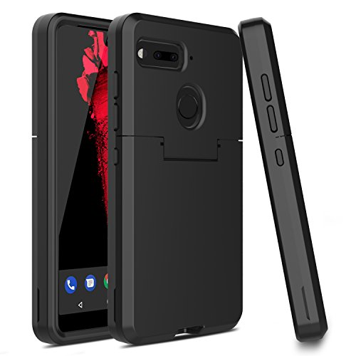 Essential Phone PH-1 Case, Venoro Three Layer Hybrid Rugged Protective Case Armor Anti-Scratch Shockproof Cover Ultra Fit for Essential Phone/Essential PH-1 Only (Black)