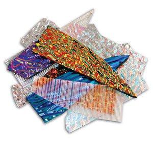 1 Lb Cbs Dichroic Texture Scrap - 90 Coe