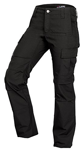 LA Police Gear Women's Mechanical Stretch Ops Tactical Cargo Pants - Black-2-LONG