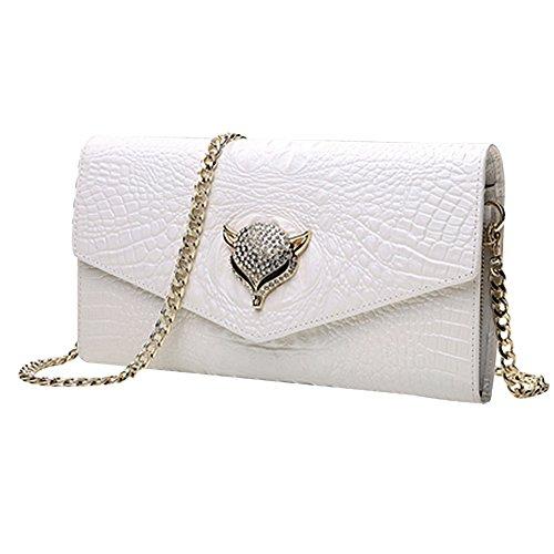 Amazon.com: Zakia Womens Fox Diamond Shining Temperament Evening Hand Bag Shoulder Bag Party Bag (black): Clothing