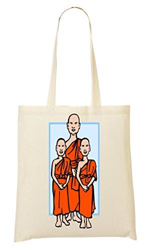 Three Monks Bolso De Mano Bolsa De La Compra
