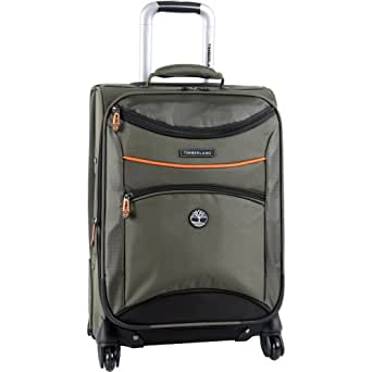 Timberland Luggage Route 4 20 Inch Expandable Spinner, Olive, One Size