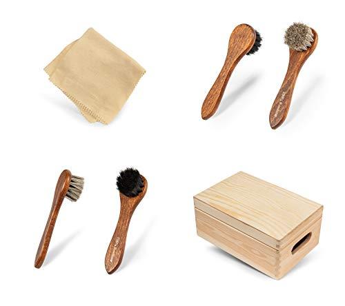 Kit d'entretien du cuir pour polir et entretenir vos chaussures en cuir lisse et vos bottes en cuir - Livré dans une… 3