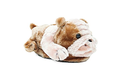 Happy Feet 9051-3 - Bulldog - Large Animal Slippers -