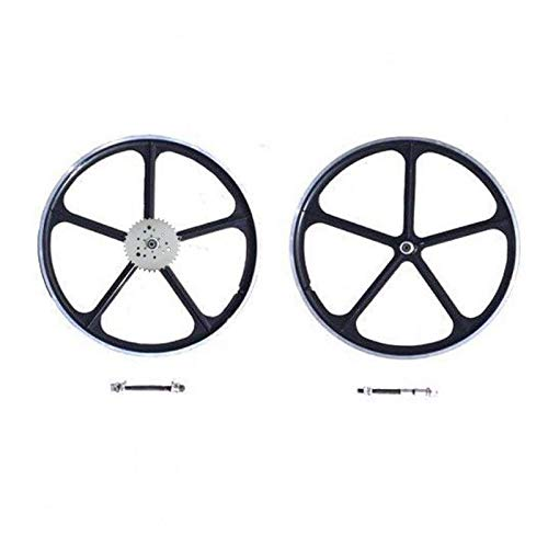 dolphin1986 Combo 29''/700c Black Mag Wheel with 36 Teeth 3+6+9 Holes Sprocket Combo Set-Gas Motorized Bicycle