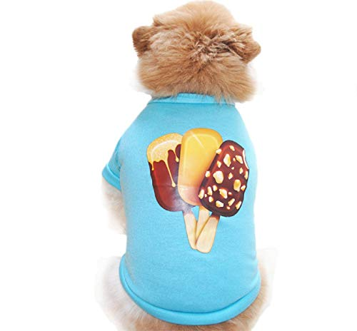 Barlingrock Dog Sweater for Small Dog, Pet Clothes, Dogs Clothes Dog Vest Dog T-Shirt, Pet Puppy Spring Summer Ice Cream Shirt Small Dog Cat Vest T Shirt Cotume Apparel