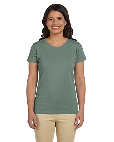 econscious Ladies' 4.4 oz., 100% Organic Cotton Classic Short-Sleeve T-Shirt - BLUE SAGE - L
