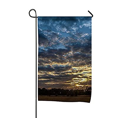 Dimanzo Flag, Beautiful Sky with Clouds Design, Campsite Flag, Motorhome Decor, Trailer Camping Flag, Garden Yard Decorations, Camp Host Flag, Outdoor Flag 12 x 18