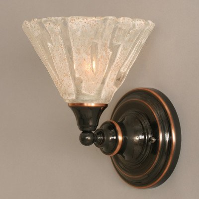 Italian Ice Glass Wall Sconce