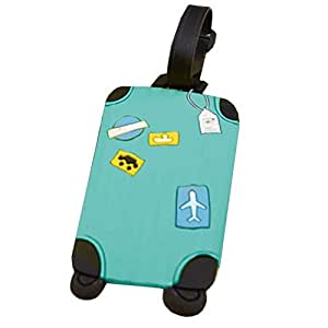 ZHUOTOP Luggage Id Tags Labels Name Address Id Plastic Suitcase Bag Travel Holiday 1