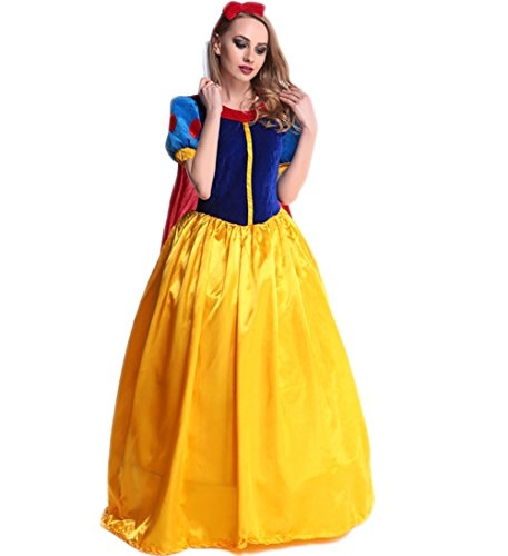 [Papaya Wear Snow White Adult Costume Halloween Costume S] (Halloween Costumes Snow White)