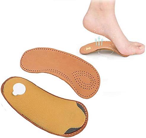 ASDF JL 3/4 LäNge OrthopäDische FußSohlen Gepolsterter Bogen Und FersenunterstüTzung Linderung Bei FußSchmerzen,24.5~25cm