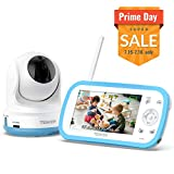 TENKER Digital Sound Activated Video Record Baby Monitor with 4.3-Inch Color LCD Screen
