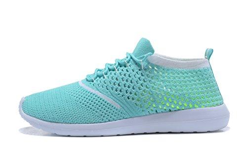 para Hombre de Zapatillas Sintético Verde Kenswalk Running de Material 0YPqgx