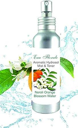 Hidrolato de Azahar Neroli 100 ml spray Agua Floral - Tónico para Piel Grasa Piel con Imperfecciones Piel Normal Piel Madura