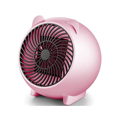JQMJ Energy-Saving Hand Warmer Desktop Electric Fan Heater Mini Personal PTC Ceramic Space Winter Warmer 250W,Pink