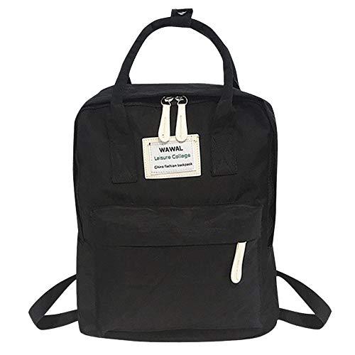 Goddessvan Fashion Women Girl Students Canvas Shoulder Bag School Bag Travel Tote Backpack Black