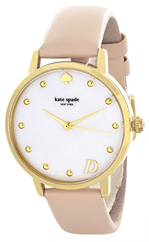 Kate Spade New York Women's Mother of Pearl Dial Tan Leather Strap Watch KSW1098D
