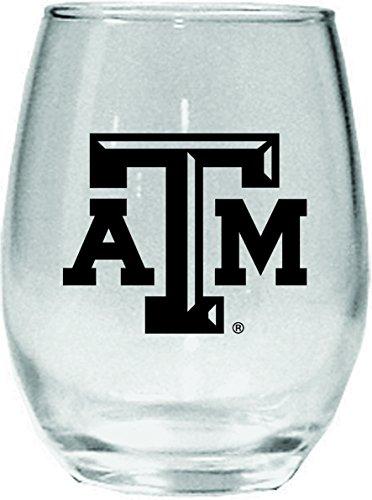 Texas A&m Aggies Tumbler (NCAA Texas A&M Aggies 15 oz Stemless Wine Glass with Black Team)
