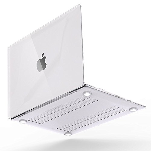 iBenzer Basic Soft-Touch Plastic Hard Case Cover for Macbook 12'' inch Retina Display [Gold, Space Gray, Silver] (Crystal Clear)