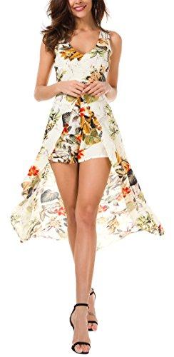KorMei Robe Rond Sans Col Apricot Femme orange Manche ZaZHxwr