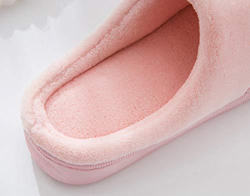 Accueil Automne de Anti Rose Sandales Chaleur extérieur Pantoufle Salle Chaussures Slippers Hiver Bureau de Slip Pantoufles Intérieur Coucher Hommes Clair Séjour de Femmes Snone à dqARtFd