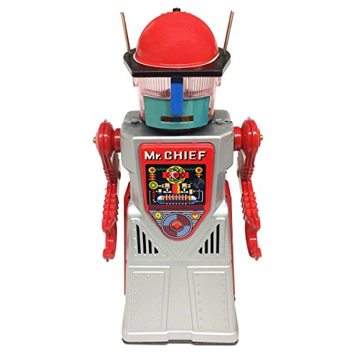 Off the Wall Toys Vintage Style Collectible Chief Smoky Robot - Silver Robotman by Off the Wall Toys (Image #3)