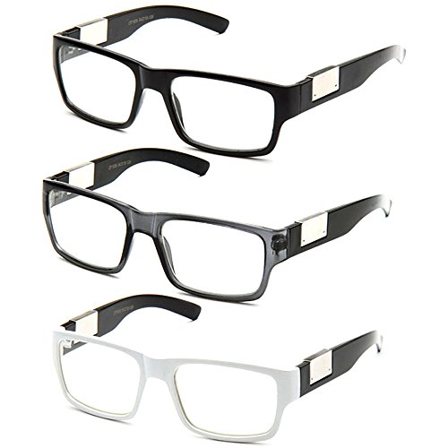 Newbee Fashion- Casual Nerd Thick Clear Frames Fashion Glasses Rectangular Clear Lens Eye - Small Lenses Eyeglass For Frames Thick
