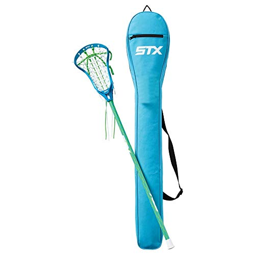 STX Crux 100 Complete Women's Lacrosse Stick with Bag Electric and Lizard and Electric
