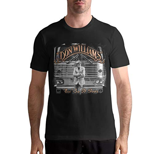 Men's T Shirts and So It Goes Don Williams Comfortable Man Tee Shirt Black