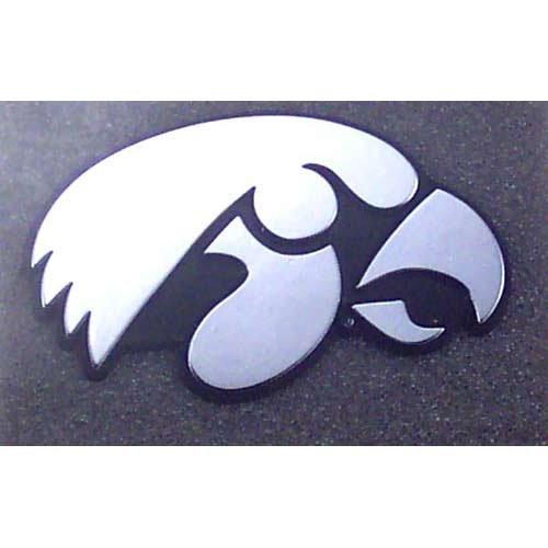 Football Fanatics NCAA Iowa Hawkeyes Chrome Auto Emblem