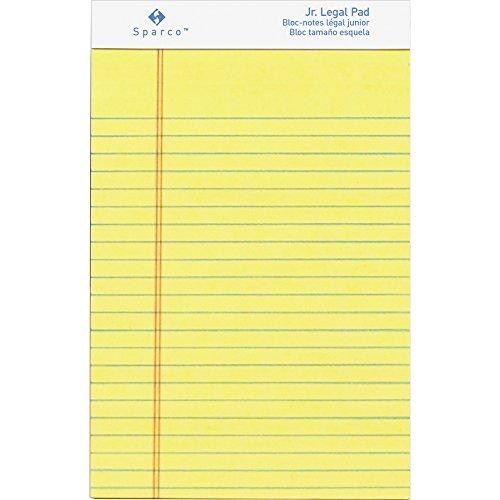 (Sparco 2058 Pad,Micro-Perforated,Jr. Legal Rld,50 Sh,5