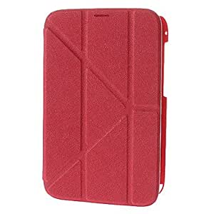 DUR BJ00143 Transformer Pattern PU Leather Tri-Fold Pouches for Samsung Galaxy Note 8.0 N5100 , Red