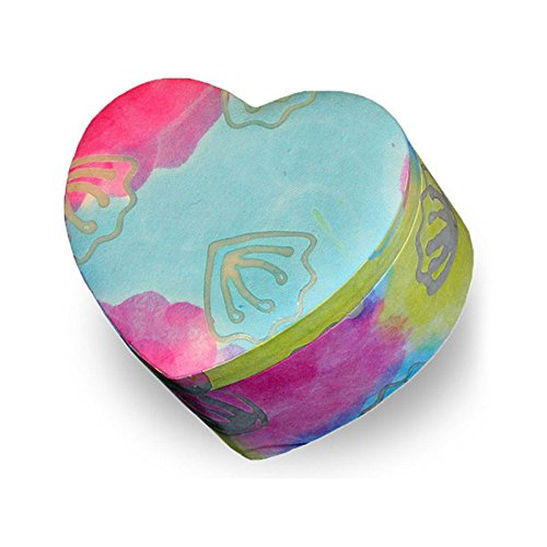 Heart Paper Memorial Pet Urn - Small - Holds Up to 30 Cubic Inches of Ashes - Tie Dye Blue Biodegradable Cremation Urn for Pets