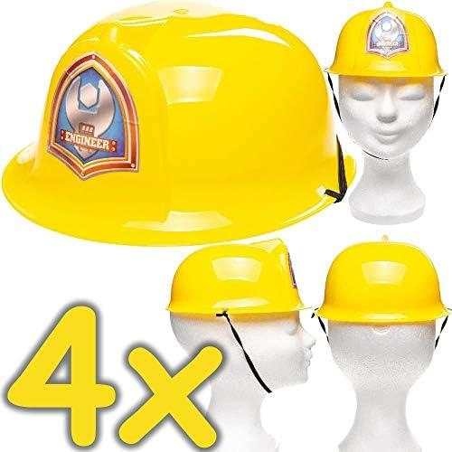 Neu: 4 Cascos de construcción para niños, Disfraz para obreros de ...