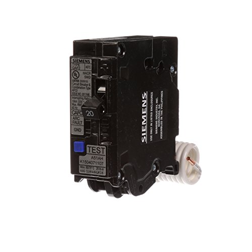 Siemens QA120AFCP 20-Amp Single Pole 120-volt Plug-On Combination AFCI Breaker (Ge Single Breaker Circuit Pole)