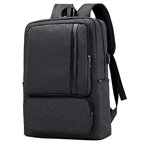 VG Bags Black 15.6-inch Slim Laptop Backpack with USB Charging Port for Dell Alienware m15, Inspiron, G3 G5 Gaming, Latitude, Vostro, XPS, Precision 14″ to 15.6-inch