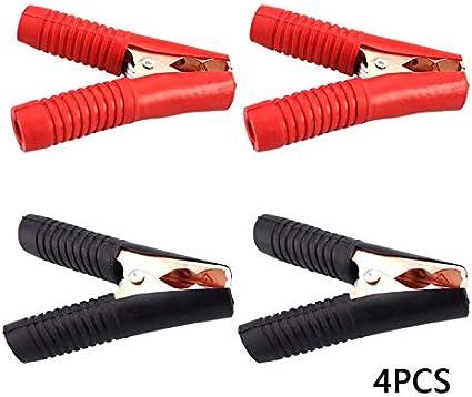 Univsal Autobatterie Clip Kabel Krokodilklemmen Ladeklemmen Batterieklemmen Auto Reparatur Set 4 Stück Auto