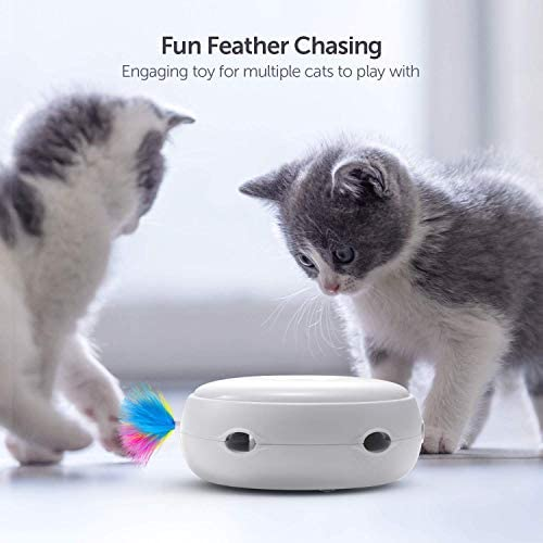 VAVAPet Interactive Cat Toys, Cat Toys Three Modes Day&Night Play Automatic Randomly Stimulates Cat's Senses Easy Replace Feather(Included Battery&Spare Feather) (Full Unit) 8