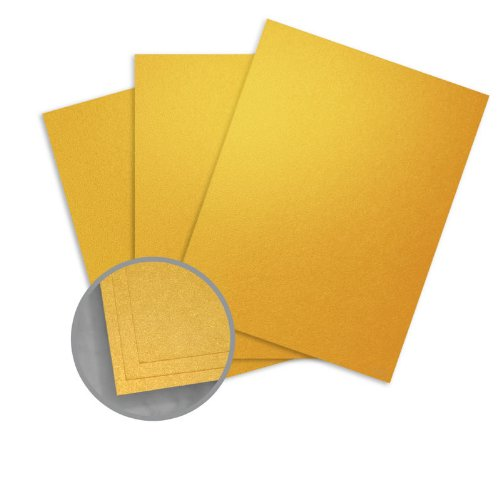 ASPIRE Petallics Gold Ore Card Stock - 8 1/2 x 11 in 98 lb Cover Metallic C/2S 200 per Package (Paper 98lb Cover)