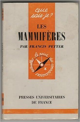 En ligne téléchargement Les mammiferes pdf ebook