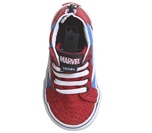 Vans Pas Bébé Premiers Zip Spiderman True Sk8 hi White Chaussures Mixte qnBTa4q