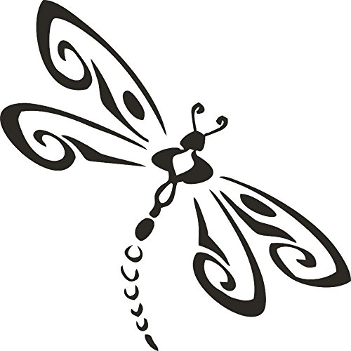 (Barking Sand Designs Dragonfly Matte Black - Die Cut Vinyl Window Decal/Sticker for Car/Truck)