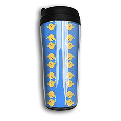 Loiorbue Little Yellow Chicken Pattern Travel Mug Coffee Portable Coffee Travel Mug For Men Women Stainless Steel Tumbler Cup