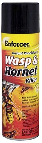 Instant Knockdown Enforcer EWHIK16 Wasp And Hornet Killer, 16 Oz, Aerosol Can, Liquid, Light Yellow