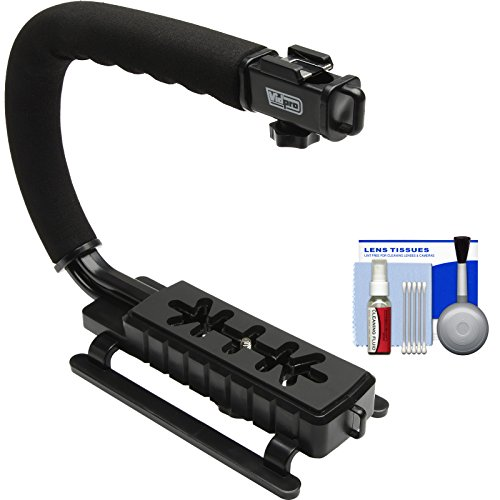 Vidpro VB-12 Stabilizer Hand Grip for DSLR Cameras, Video Camcorders & Action Cameras with Cleaning Kit