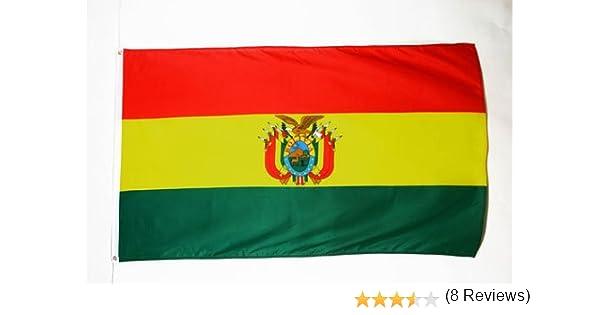 AZ FLAG Bandera de Bolivia 90x60cm - Bandera BOLIVIANA 60 x 90 cm: Amazon.es: Hogar