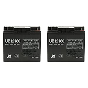 Universal Power Group 12V 18AH RECHARGEABLE SEALED LEAD ACID DEEP-CYCLE SLA BATTERY SLA1116-2 Pack
