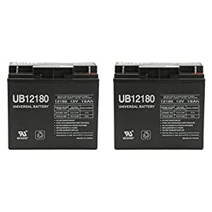 UPG - 12V 18AH BATTERY REPLACEMENT FOR GS PORTALAC WHEELCHAIR - 2 PACK - UB12180MP223